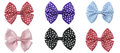 Collection set of colorful ribbon bows isolation on a white background Royalty Free Stock Image