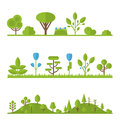 Collection Set Flat Icons Tree...