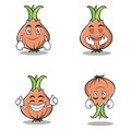 Collection set onion character cartoon