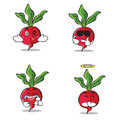 Collection set of radish character cartoon style