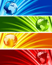 Collection of shiny banners Royalty Free Stock Photo