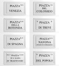 Collection of signboards of rome marble italy Royalty Free Stock Photos