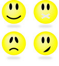 Collection of smiles. Vector illustration. Stock Photo