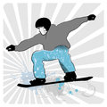Collection of snowboard skiers d vector Stock Photography