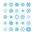 Collection of snowflakes,  Royalty Free Stock Images