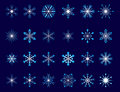 Collection of snowflakes Royalty Free Stock Image