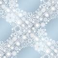 Collection of snowflakes set illustration Stock Photo