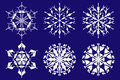 Collection snowflakes for winter design, vector Stock Photography
