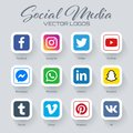 Popular social media logos collection