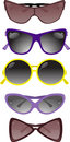 Collection of solar glasses. Vector illustration Royalty Free Stock Photos
