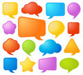 Collection of speech bubbles Royalty Free Stock Image