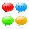Collection Speech Bubbles Stock Photo