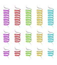 Collection of spiral ribbons Royalty Free Stock Photo