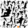 Collection of sports vector Royalty Free Stock Photos