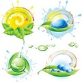 Collection of spring eco-icons. Royalty Free Stock Photos