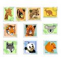 Collection of stamps of animals Stock Images