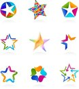 Collection of star icons, vector Stock Photo