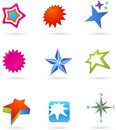 Collection of star logos Royalty Free Stock Image