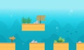Collection stock underwater style background game