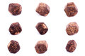 Collection of stone mineral garnet