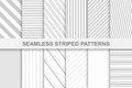 Collection of striped seamless patterns.