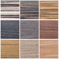 Collection of striped wood textures Royalty Free Stock Photo
