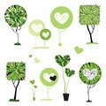 Collection of stylized trees vector illustration isolated Stock Photo