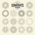 Collection Of Sunbursts Or Bur...