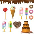 Collection of sweets colorful illustration with for your design Stock Photo