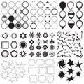 Collection of symbols and labels Royalty Free Stock Photo