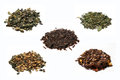 Collection of teas on the white background Royalty Free Stock Photography