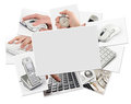 Collection of technology photos with blank frame Royalty Free Stock Photo