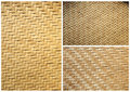 Collection of texture bamboo basket for background Stock Photos