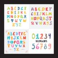 Funny hand drawn English alphabet.