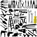 Collection of tool vector Stock Image