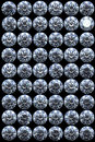 Collection - top views of diamonds Royalty Free Stock Photography