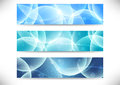 Collection of transparent headers clip art Stock Photography