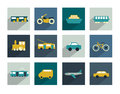 Collection of transport sign. Traffic symbols. Royalty Free Stock Photo