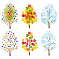 The collection of trees Royalty Free Stock Photography