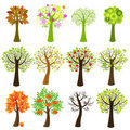 Collection Of Trees. Vector Stock Image