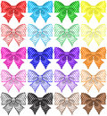 Collection of twenty polka dot bows vector illustration eps rgb created with gradient mesh and blending modes Stock Photography