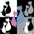 Collection of two cats Royalty Free Stock Image