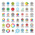 Collection of universal tsvetrnyh vector logos Royalty Free Stock Photo