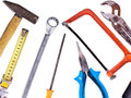 Collection of used tools Royalty Free Stock Photos