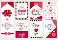 Collection of valentine's day background set with heart,cupcake,balloon.Editable vector illustration for website, invitation,