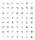 Collection of various arrow shapes Stock Photos