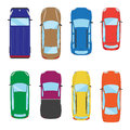 Collection of various  cars icons. Car top view illustration. Vector Royalty Free Stock Photo