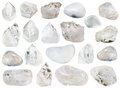 Collection of various natural rock crystals Royalty Free Stock Photo