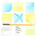Collection of various note papers ready for use set vector your message Royalty Free Stock Images