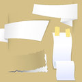 Collection with various pieces of paper for scrapbook and notes ready for your message Royalty Free Stock Photos